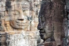 Bayon temple face Stock Photography