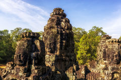 Bayon temple with face Stock Images