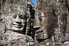 Bayon temple faces Royalty Free Stock Images