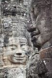 Bayon temple faces in Angkor Cambodia Stock Images