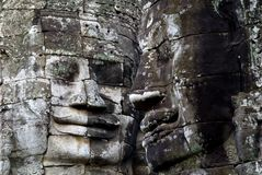 Bayon Temple faces, Angkor Wat Royalty Free Stock Photo