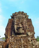 The Bayon temple. Faces of the Bayon temple in the Angkor Wat complex, Siem Reap, Cambodia Royalty Free Stock Image