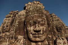 Bayon temple faces Royalty Free Stock Photos