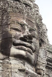 Bayon temple faces huge ancient carvings Royalty Free Stock Image