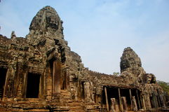 Bayon Temple. Famous Bayon Temple in Cambodia Royalty Free Stock Photos