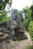 Bayon temple gate cambodia Royalty Free Stock Photo