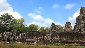 Bayon temple in siem reap Royalty Free Stock Photography