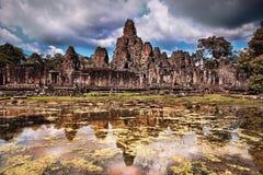 Bayon Temple in Siem Reap, Cambodia. Royalty Free Stock Photos