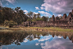 Bayon Temple in Siem Reap, Cambodia. Stock Photo