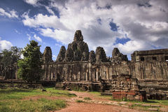 Bayon Temple in Siem Reap, Cambodia. Stock Photos