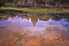 Bayon Temple in Siem Reap, Cambodia. Royalty Free Stock Photo