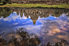 Bayon Temple in Siem Reap, Cambodia. Stock Image