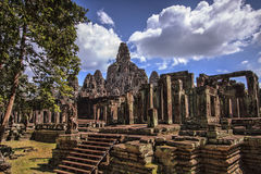 Bayon Temple in Siem Reap, Cambodia. Royalty Free Stock Image