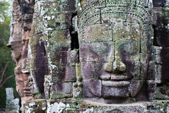 Bayon Temple Smiling Faces Royalty Free Stock Photo