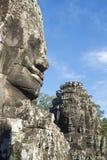 Bayon Temple Stone Face at Angkor Wat Stock Photo