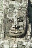 Bayon Temple Stone Face at Angkor Wat Stock Image