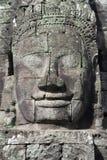 Bayon Temple Stone Face at Angkor Wat Stock Images