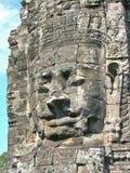 Bayon Temple Stone face Cambodia Stock Image
