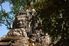 Bayon temple stone face monument, Cambodia Royalty Free Stock Images