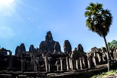 Bayon Temple And Stone Faces In Angkor Thom,  Angkor Wat, Siem R Stock Images