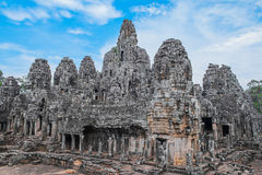 Bayon Temple with stone heads Royalty Free Stock Image