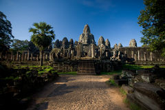 Bayon Temple Wide Entrance Path Stock Images