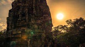 Bayon, templo de Angkor Wat Siem Reap, o sorriso do angkor foto de stock royalty free