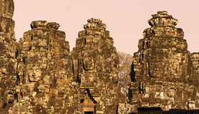 Bayon tower, Cambodia Royalty Free Stock Photos