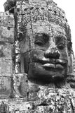 Bayon Tower with huge carved face - Angkor Royalty Free Stock Photography