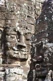 Bayon vänder mot på det Bayon tempelet Royaltyfri Foto