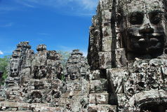 Bayon stone faces, Angkor temples, Cambodia Stock Photo