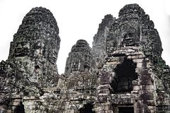 The Magnificent Faces Bayon royalty free stock photography