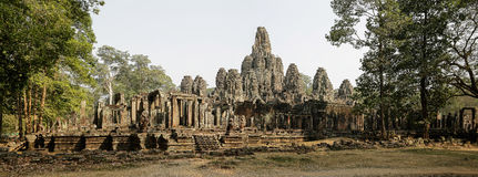 Bayon west panorama. Stitched Panorama from north-west corner Royalty Free Stock Image