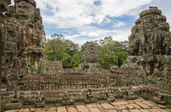 Bayon wide view Royalty Free Stock Image