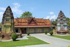 Bayonen är en rikt dekorerad en khmertempel på Angkor i Cambodja arkivfoto