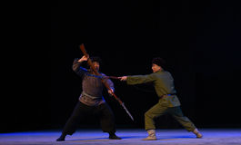 "Bayonet fighting-Peking Opera ""Taking Tiger Montain By Strategy"" Stock Photo"