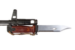 Bayonet on kalashnikov ak Stock Photo