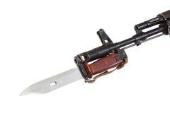 Bayonet on kalashnikov ak Stock Image