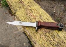 Bayonet knife. Army. Kalashnikov set. Russian weapon stock images