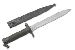 Bayonet and scabbard Royalty Free Stock Image
