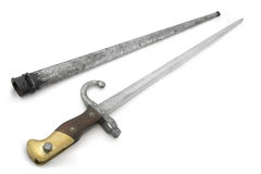 Bayonet and sheath Royalty Free Stock Photo