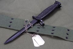 bayonet with US ARMY stock image