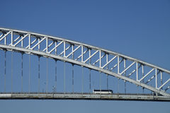 Bayonne Bridge & bus Royalty Free Stock Images