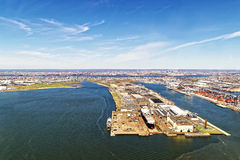 Bayonne Dry Dock and Repair and Global Container Terminal Stock Photos