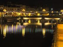 Bayonne na noite Imagem de Stock