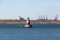 Robbins Reef Lighthouse Royalty Free Stock Image