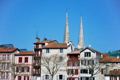 Bayonne in Zuiden van Frankrijk Stock Afbeeldingen