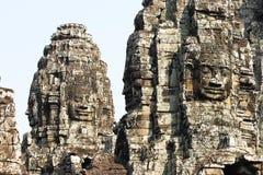 Bayons at Angor-Wat stock photos