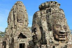 Bayons Angor-Wat-Cambodge image stock