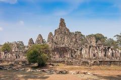 Bayons Angor Wat, Cambodia royalty free stock photos